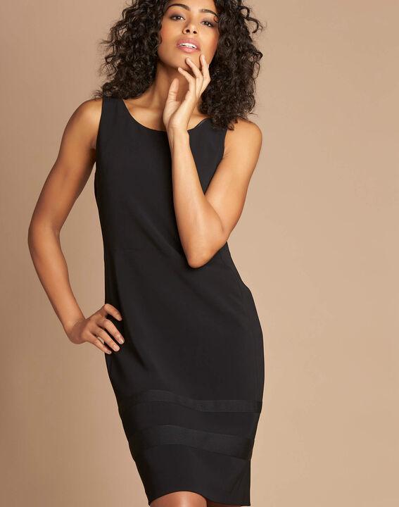 Schwarzes gerades ärmelloses Kleid Abricot (1) - 1-2-3