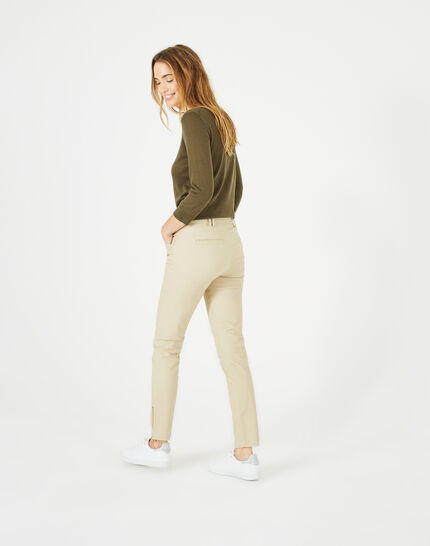 Kloe camel 7/8 length trousers (5) - 1-2-3