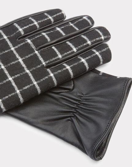 Grau-schwarze Karo-Handschuhe Zephyr (2) - 1-2-3