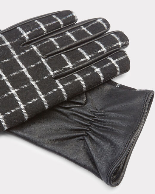 Zephyr black and grey check gloves (1) - 1-2-3