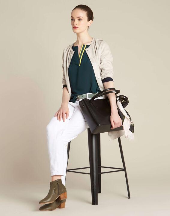 Schwarzer Leder-Shopper Debbie (3) - 1-2-3