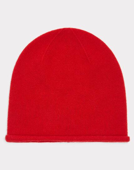 Bonnet rouge en cachemire Tilleul PhotoZ | 1-2-3