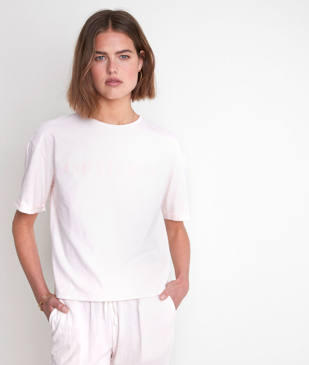 Tee-shirt en coton pêche Icocoon PhotoZ   1-2-3