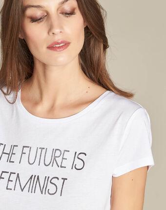 Weißes t-shirt mit siebdruck elite weiss.