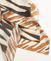 Adi zebra print square scarf in chestnut silk PhotoZ | 1-2-3