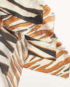 Adi zebra print square scarf in chestnut silk (1) - 1-2-3