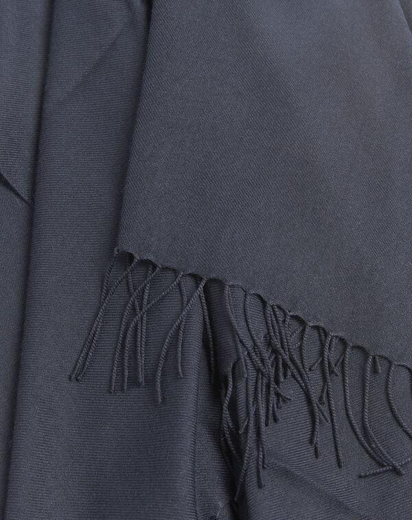 Donkerblauwe sjaal met franjes Fossette (1) - 37653