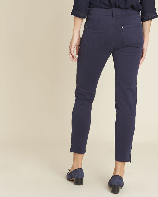 Opéra ⅞-length navy jeans (2) - 1-2-3