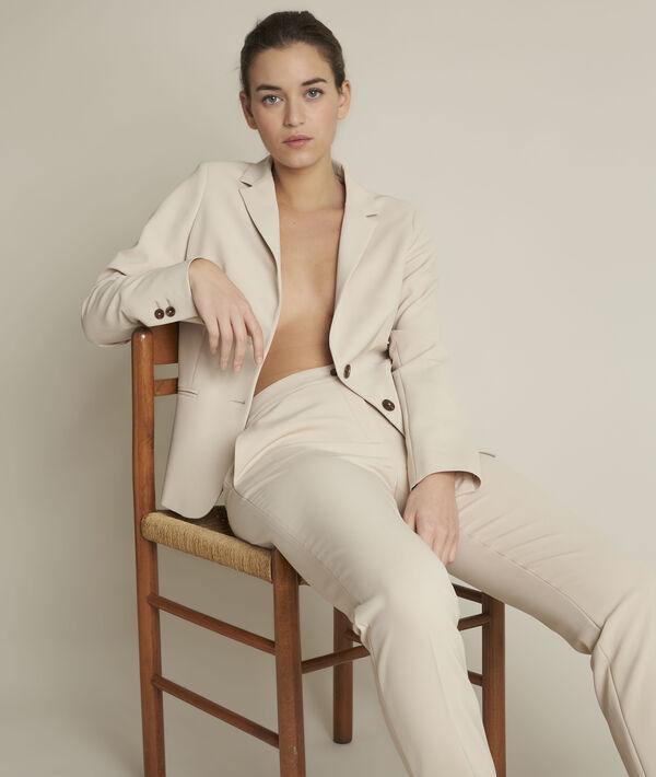 Pantalon microfibre beige Suzanne PhotoZ | 1-2-3