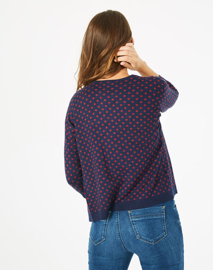 Parade blue knitted jacket with polka dots (5) - 1-2-3