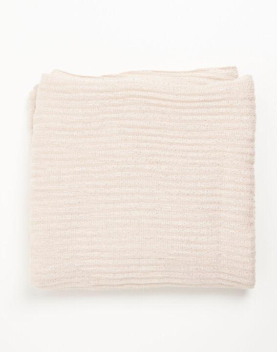 Nude sjaal met metalen draad Flash (1) - Maison 123