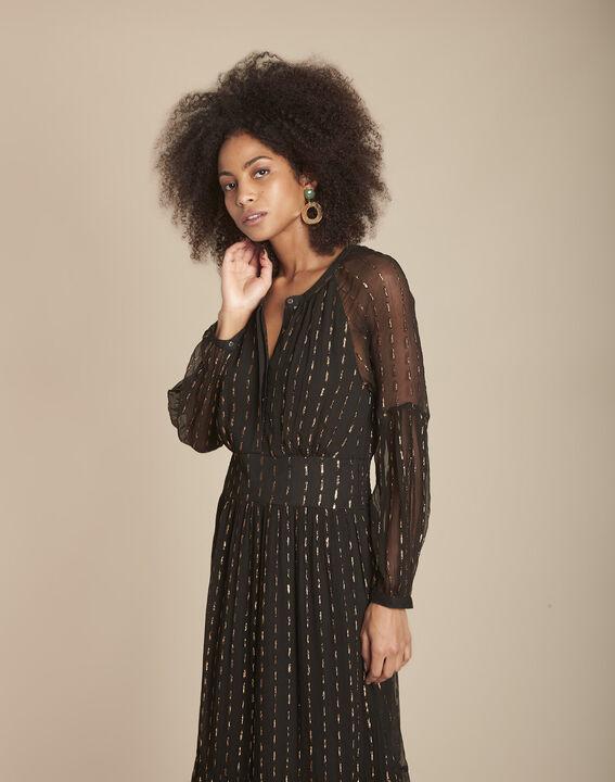 Robe longue noire en lurex Rosane PhotoZ | 1-2-3