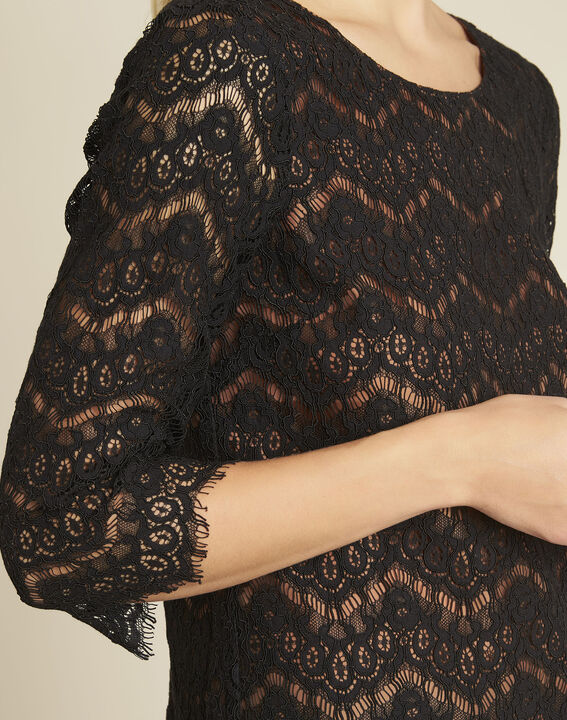 Geraldine black lace blouse with lining (3) - 1-2-3