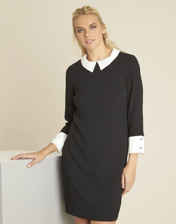 Demoiselle black dress with detachable collar (1) - 1-2-3