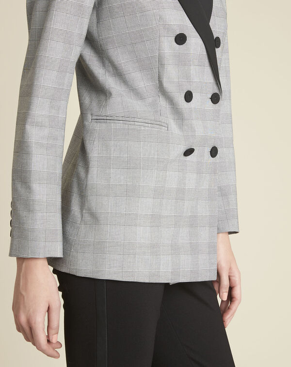 Siara grey Prince of Wales print jacket (2) - 1-2-3