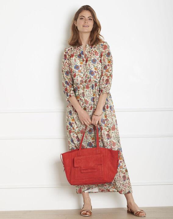 Robe écrue imprimé fleuri Libra (2) - Maison 123