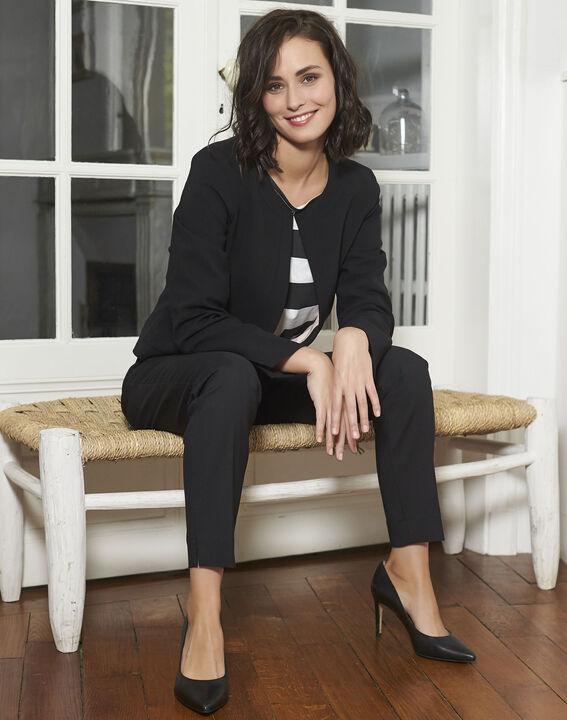 Galinette Black Striped T-Shirt (2) - 1-2-3