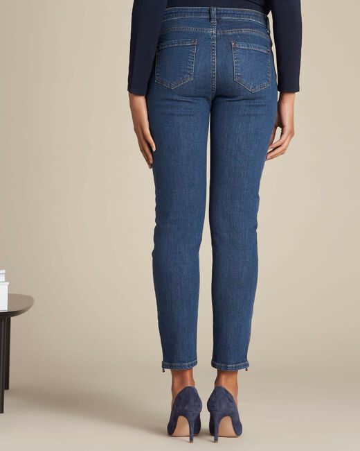 Vendôme slim-cut dark indigo jeans with zips (2) - 1-2-3