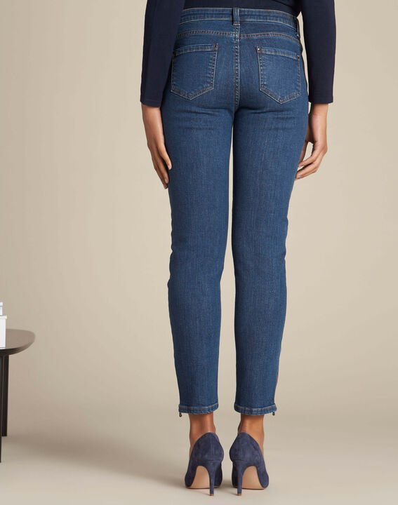 Vendôme slim-cut dark indigo jeans with zips (4) - 1-2-3