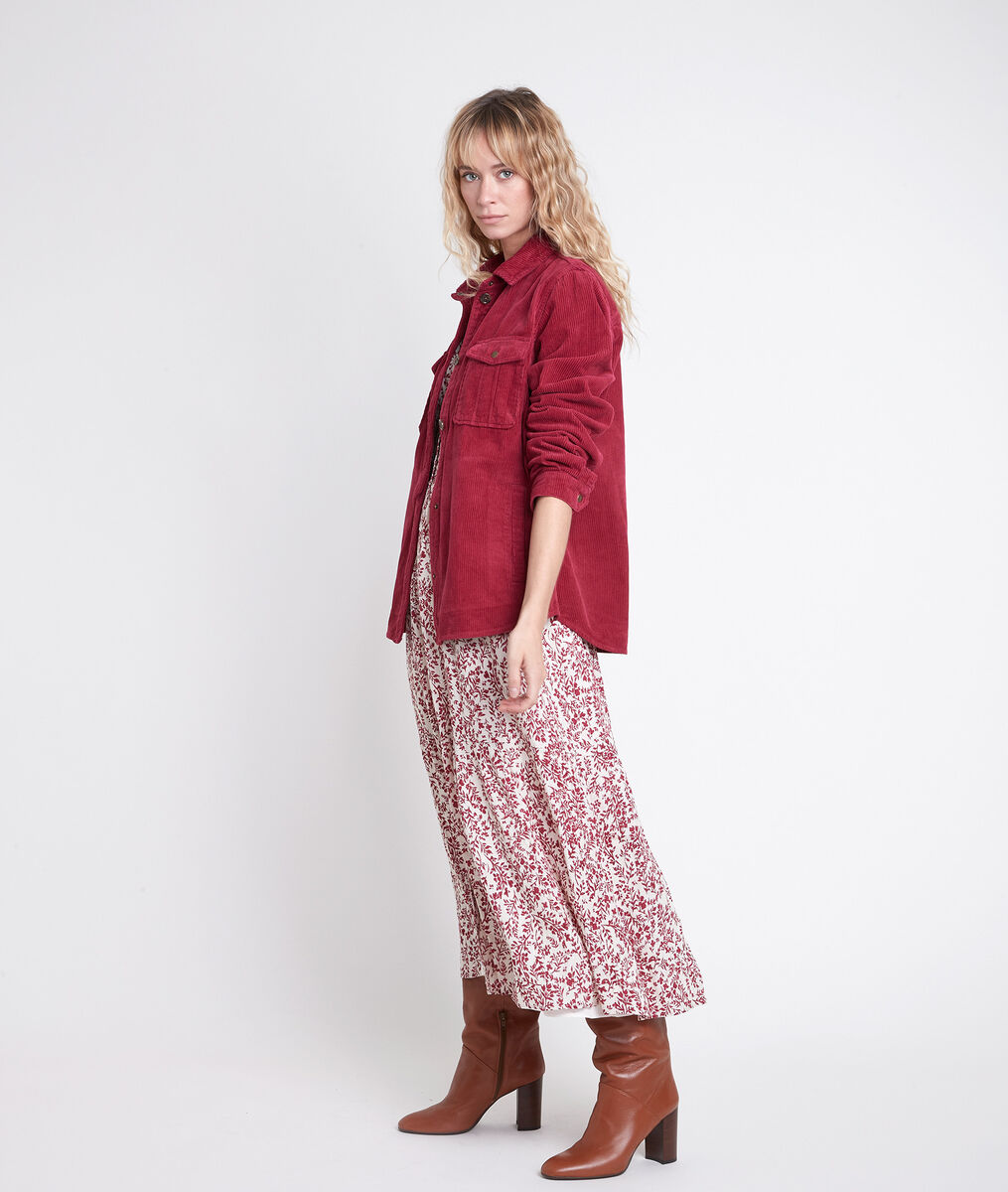 Robe longue écrue  imprimée Carola PhotoZ | 1-2-3