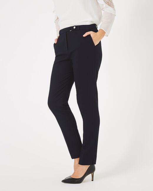 Pantalon jacquard bleu marine Vanille (2) - 1-2-3