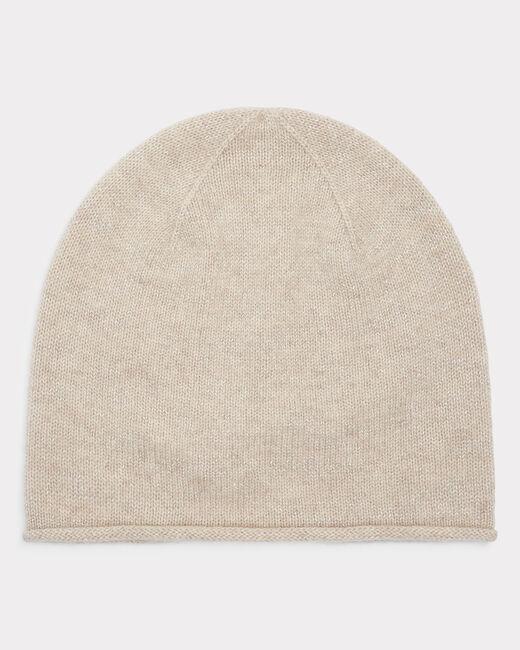 Bonnet beige brillant en cachemire Tilleul bis (1) - 1-2-3