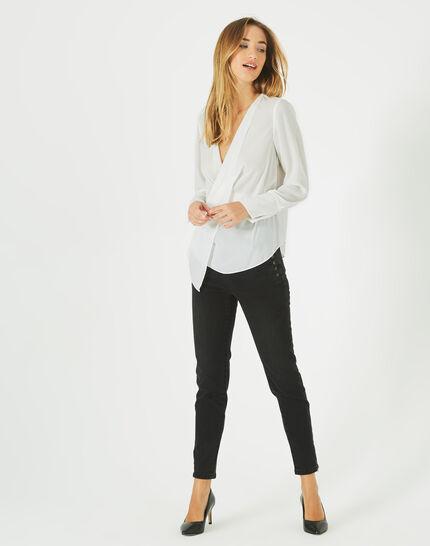 Danse draped, off-white blouse (1) - 1-2-3
