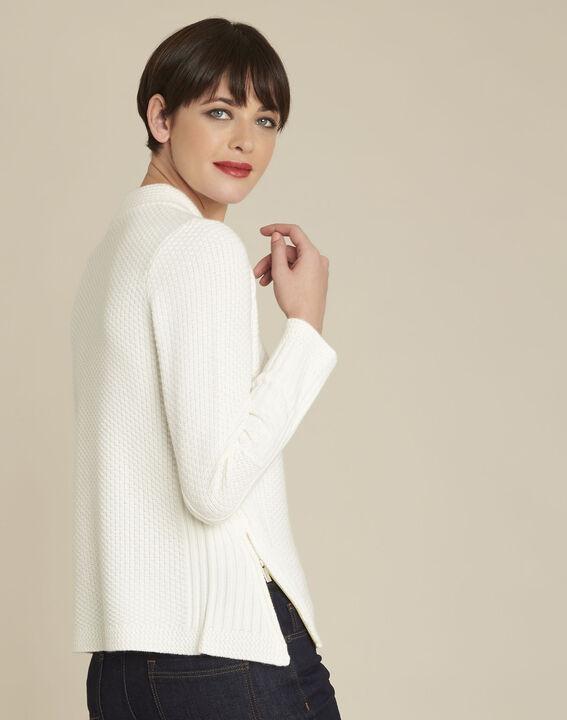 Witte trui met hoge kraag van gemengd wol Brindille (4) - 37653