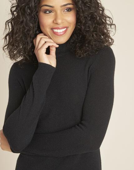 Perceneige black polo-neck cashmere sweater (3) - 1-2-3