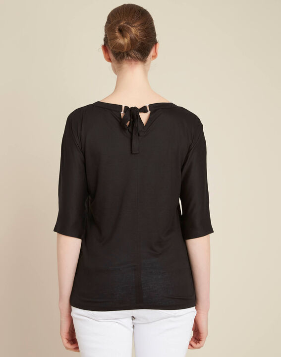 Guillem black blouse with bow at the back (4) - 1-2-3