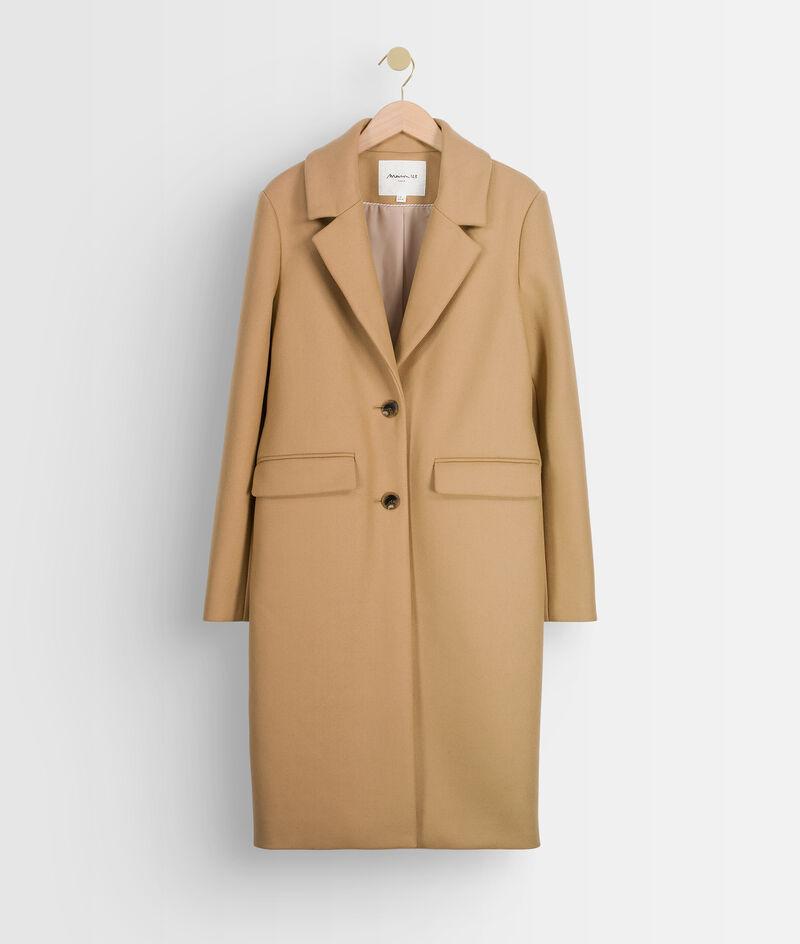 Manteau droit en laine canelle Loulou PhotoZ | 1-2-3