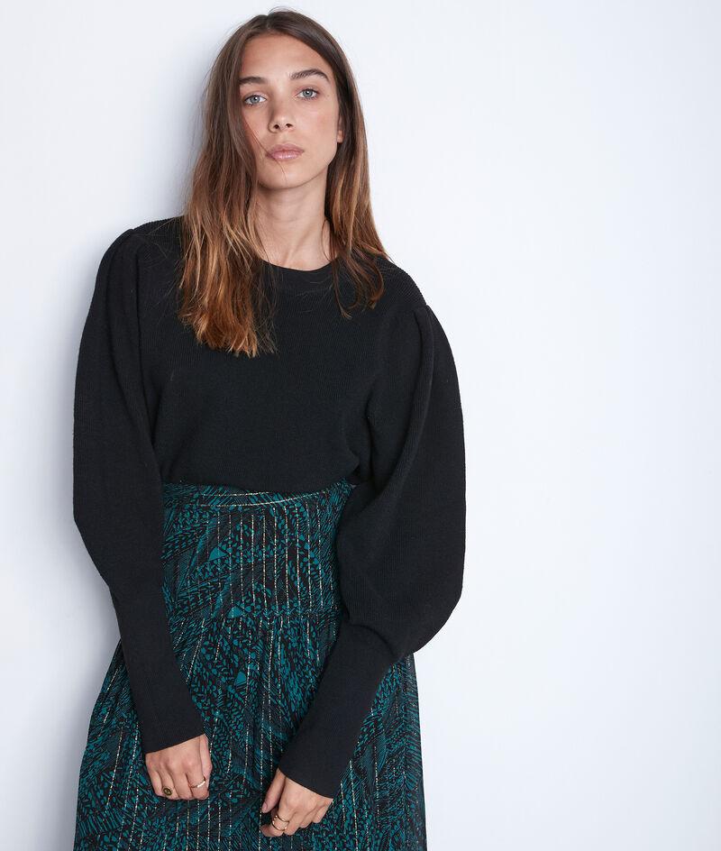 Zwarte trui met pofmouwen Tulipe PhotoZ   1-2-3