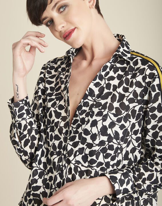 Cathleen white shirt with leaf print (3) - 1-2-3