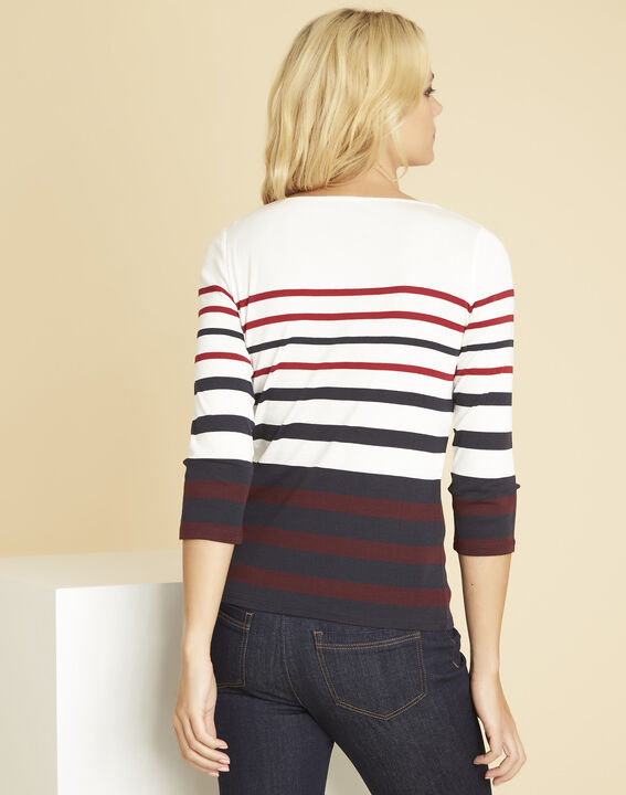 Gasayat red T-shirt with stripes (4) - 1-2-3