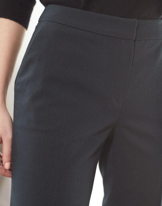 Pantalon cigarette vert foncé à carreaux Suzanne (3) - 1-2-3