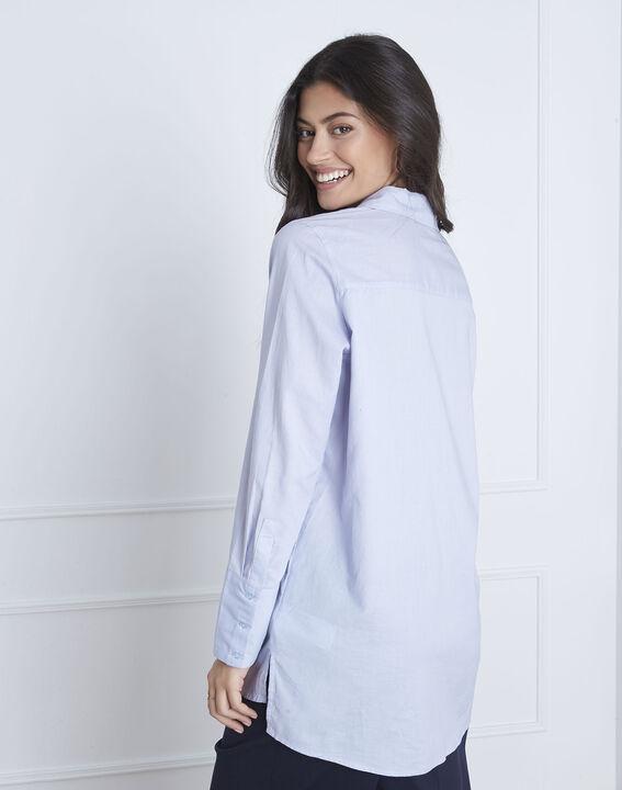 Blaues Hemd mit silberfarbenen Details Valza (4) - Maison 123