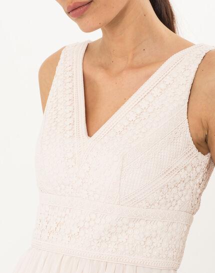 Puderfarbenes schwungvolles Kleid Freedom (5) - 1-2-3