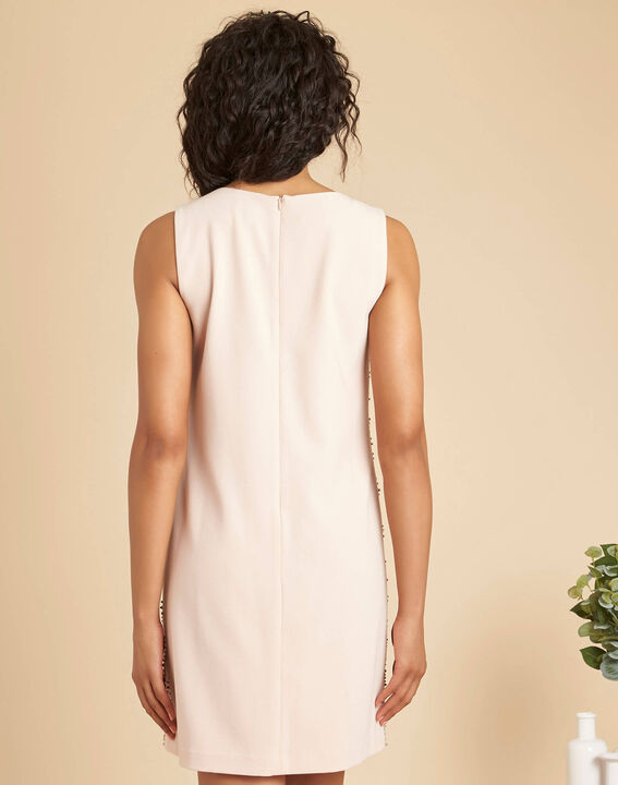 Robe rose pale brodée clous Isaure (4) - 1-2-3