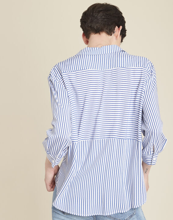 Darwin striped blouse in an oversized cut (4) - 1-2-3