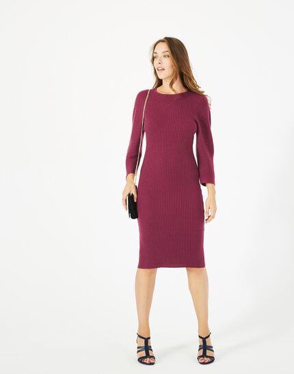 Altesse blackcurrant wool-blend dress (2) - 1-2-3