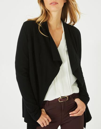 Primevère black cashmere waterfall cardigan (2) - 1-2-3
