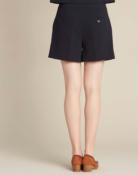 Sabi navy blue pleated shorts (4) - 1-2-3