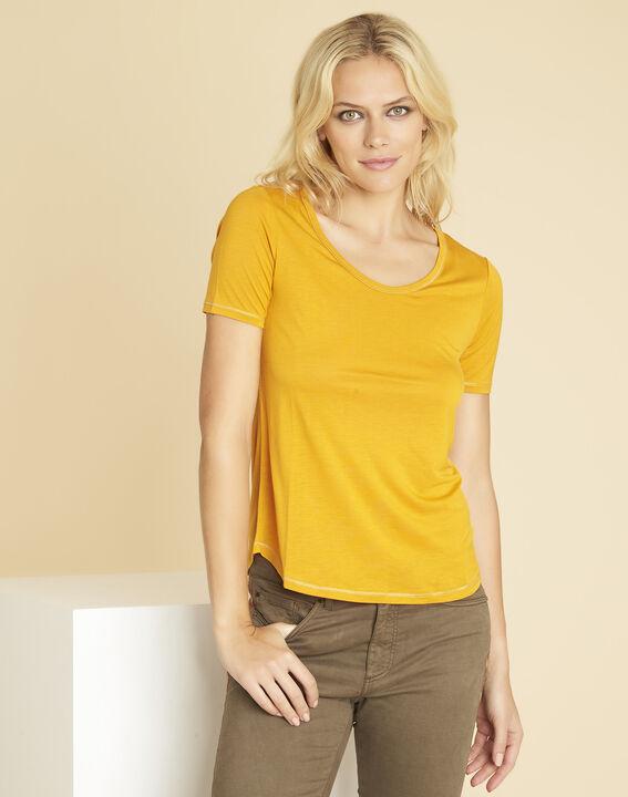 Tee-shirt jaune détails coutures dorées Glycel PhotoZ | 1-2-3