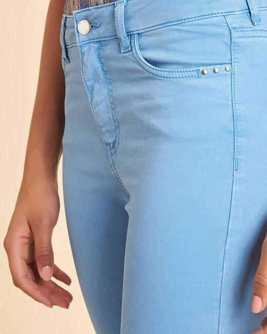 Blauwe verwassen slim fit jeans met normale taille Vendôme (2) - 37653