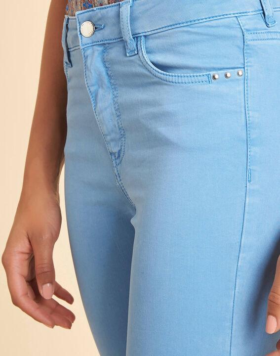 Blauwe verwassen slim fit jeans met normale taille Vendôme PhotoZ | 1-2-3
