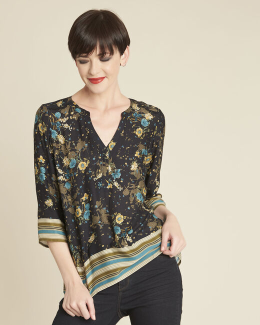 Arletty black floral printed blouse (2) - 1-2-3
