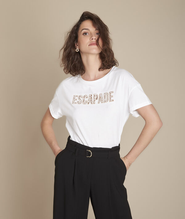 Tee-shirt blanc à message Carthagene PhotoZ   1-2-3