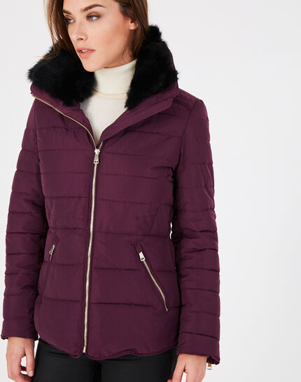 Laure short blackcurrant puffer jacket (2) - 1-2-3