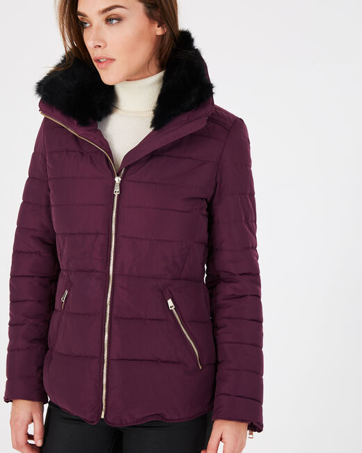Laure short blackcurrant puffer jacket (1) - 1-2-3