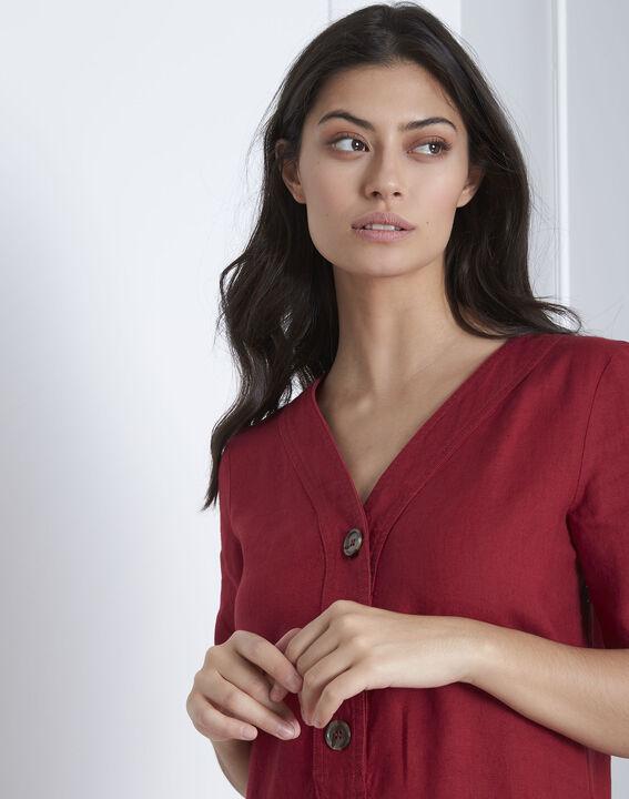 Robe rouge en lin Loanne (3) - Maison 123